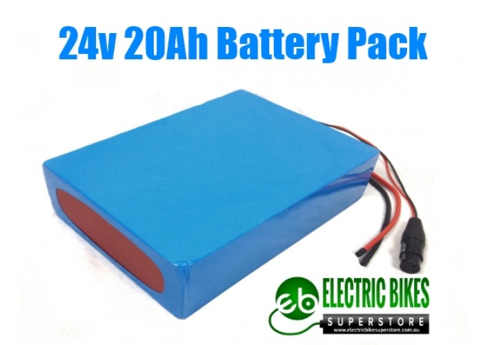 CLEAR COVER 24V20AH 480WH BATTERY PACK